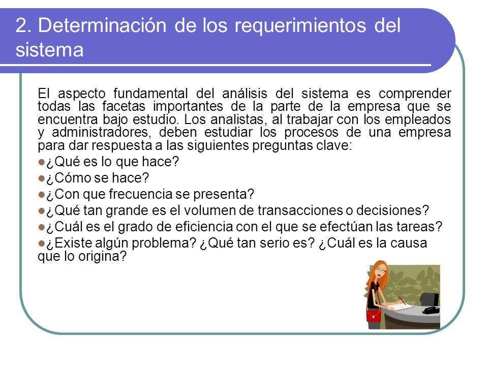 2. Determinación de los requerimientos del sistema