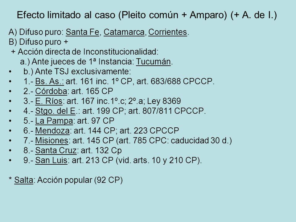 Efecto limitado al caso (Pleito común + Amparo) (+ A. de I.)