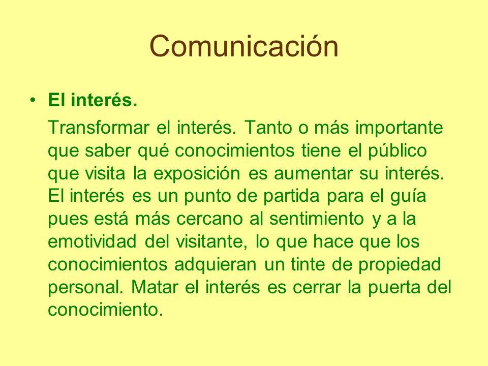 Comunicación El interés.