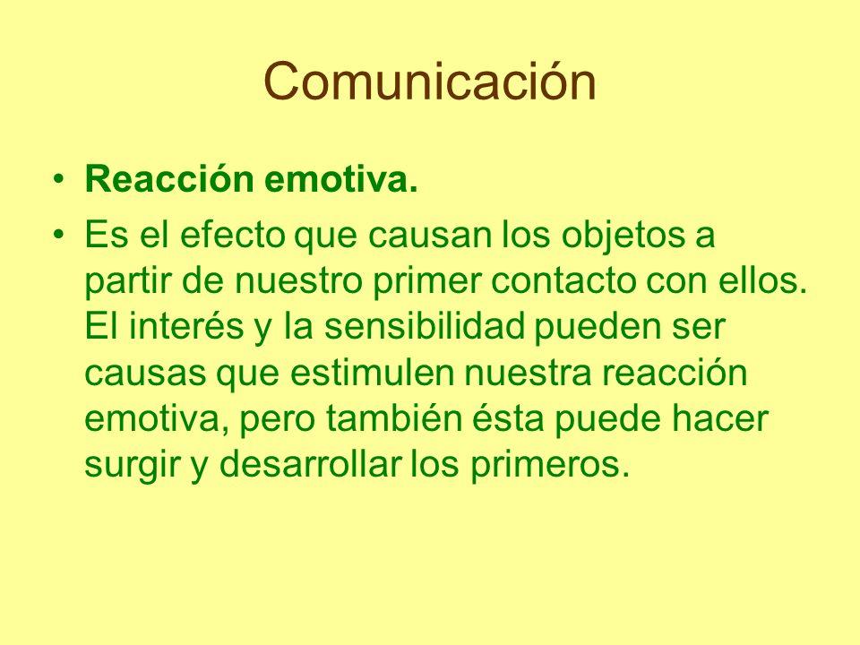 Comunicación Reacción emotiva.