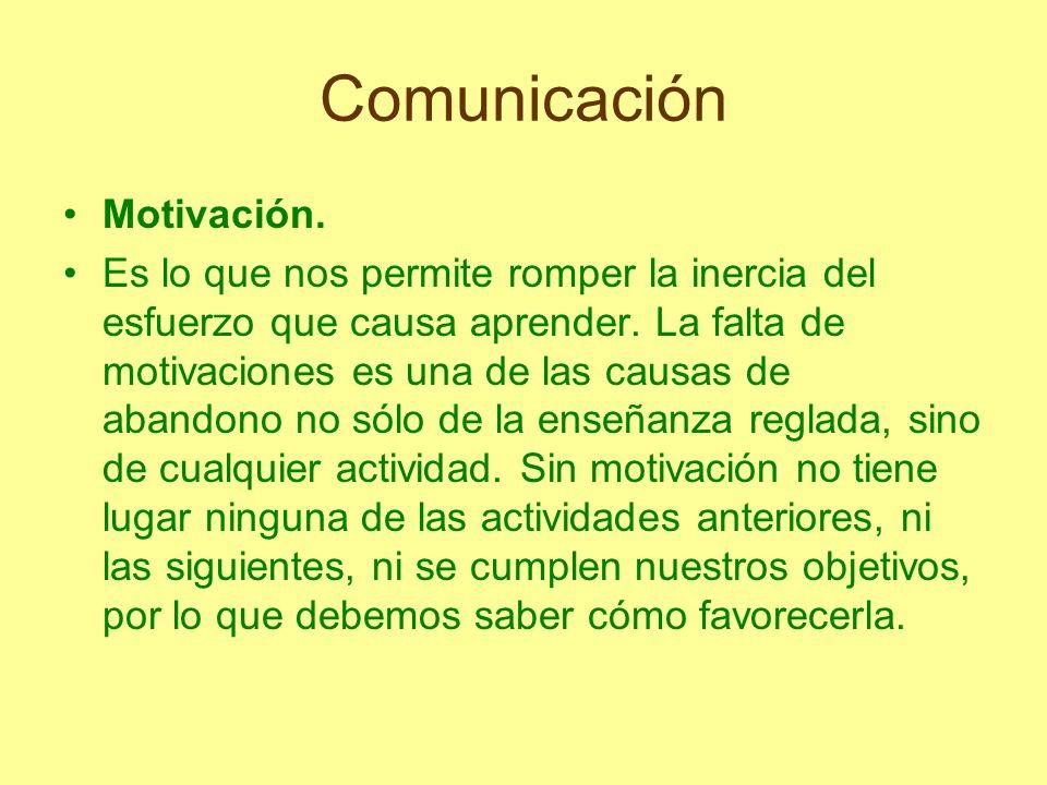 Comunicación Motivación.