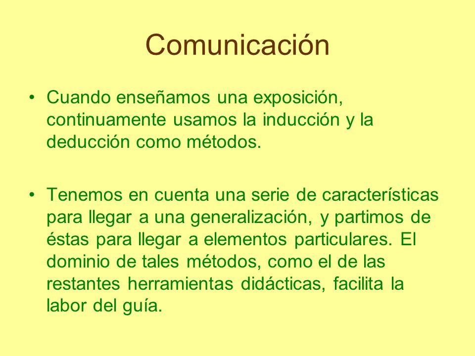ComunicaciónCuando enseñamos una exposición, continuamente usamos la inducción y la deducción como métodos.