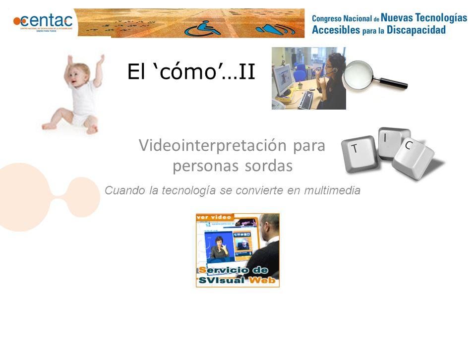 Videointerpretación para personas sordas