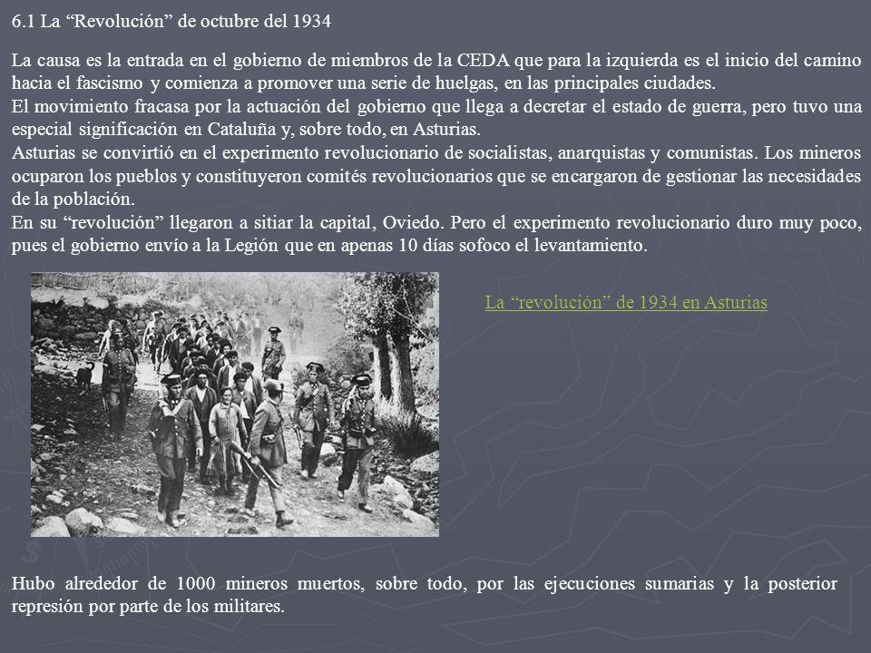 6.1 La Revolución de octubre del 1934