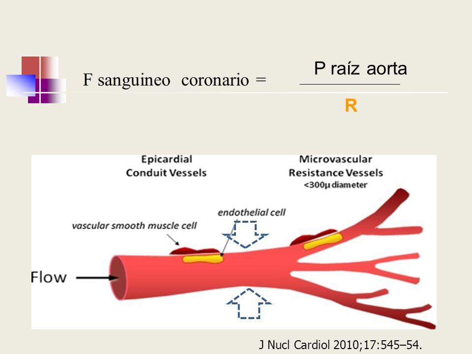 F sanguineo coronario =