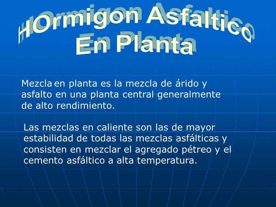 HOrmigon Asfaltico En Planta