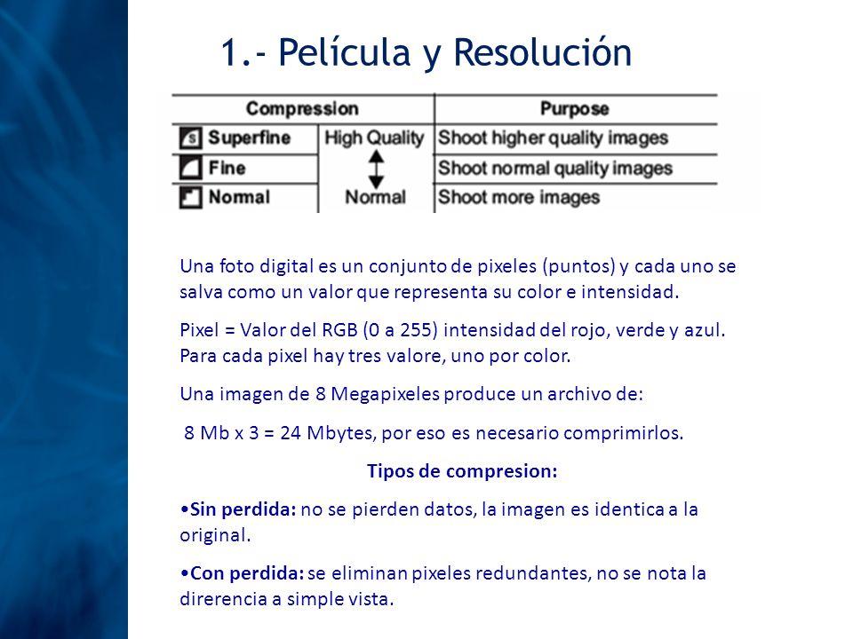 1.- Película y Resolución