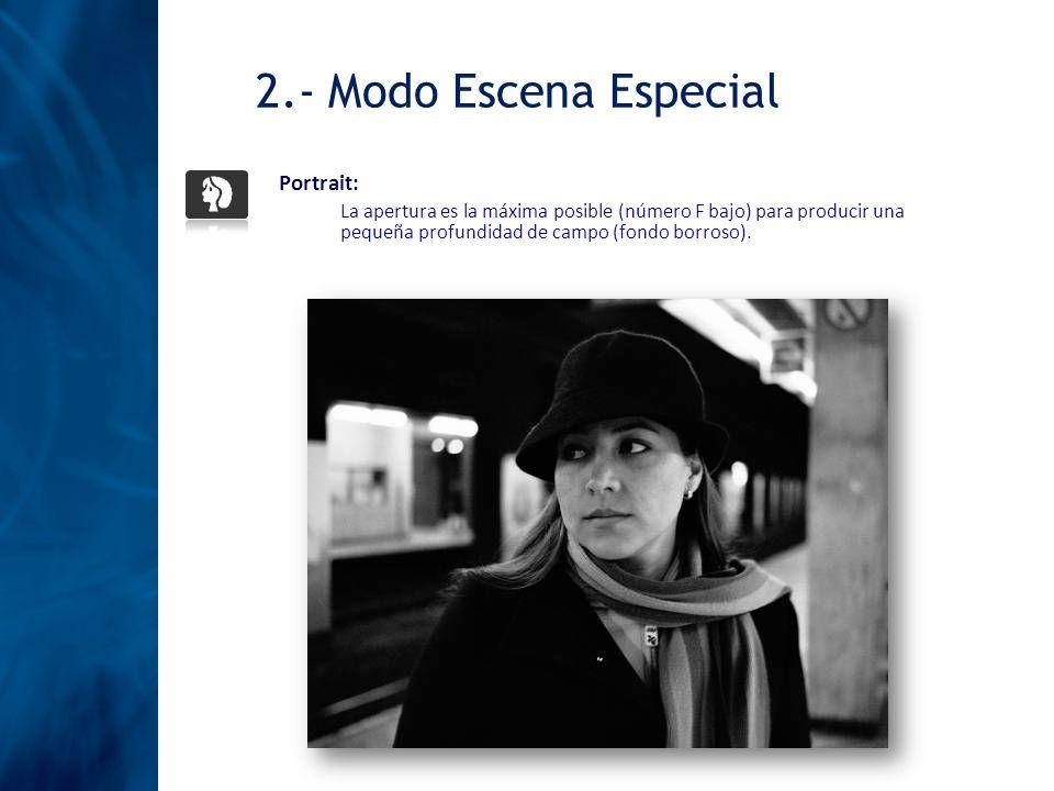 2.- Modo Escena Especial Portrait: