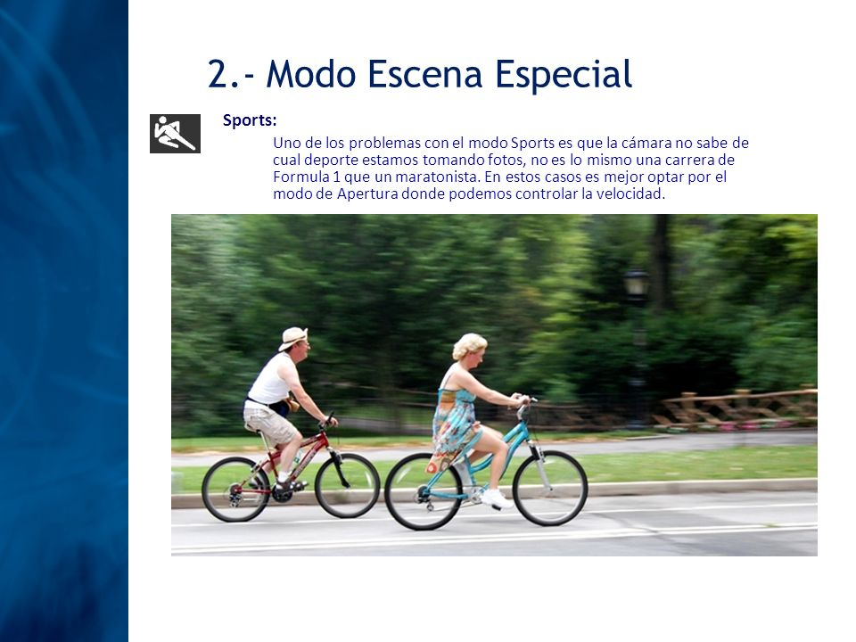 2.- Modo Escena Especial Sports: