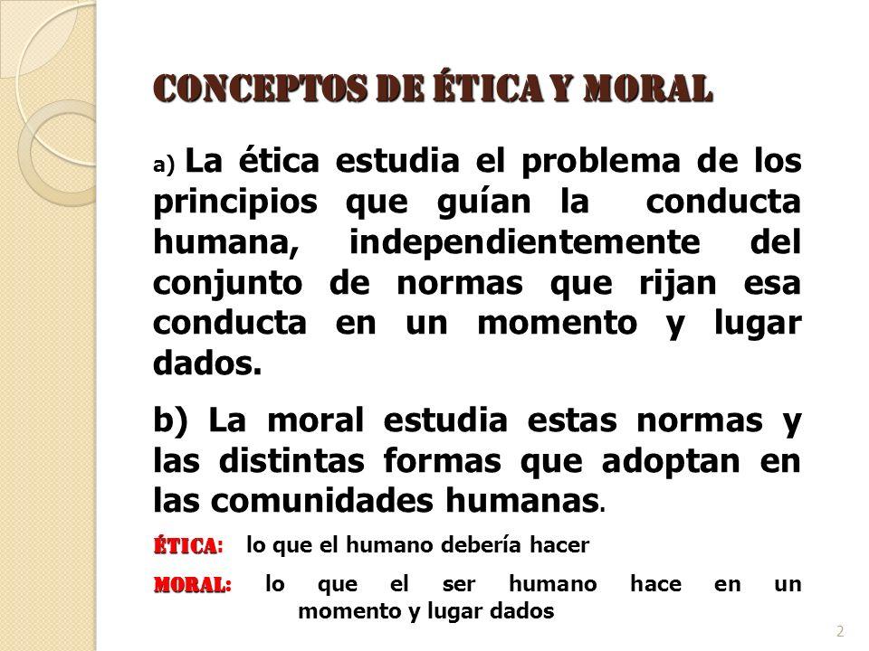 Conceptos de Ética y Moral