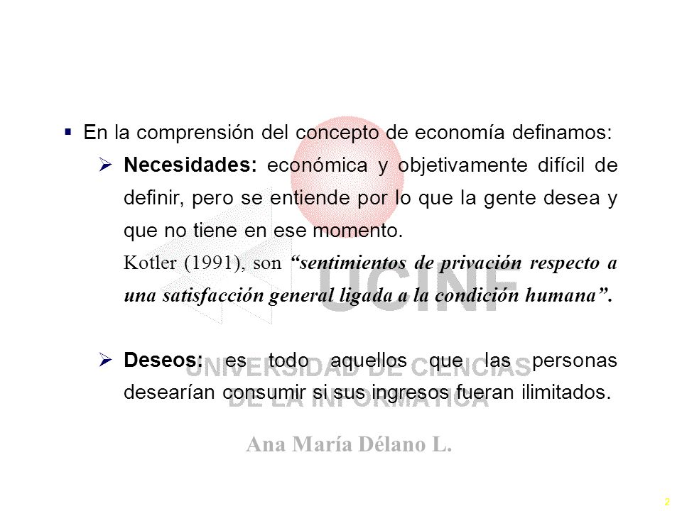 El Concepto de la Economía