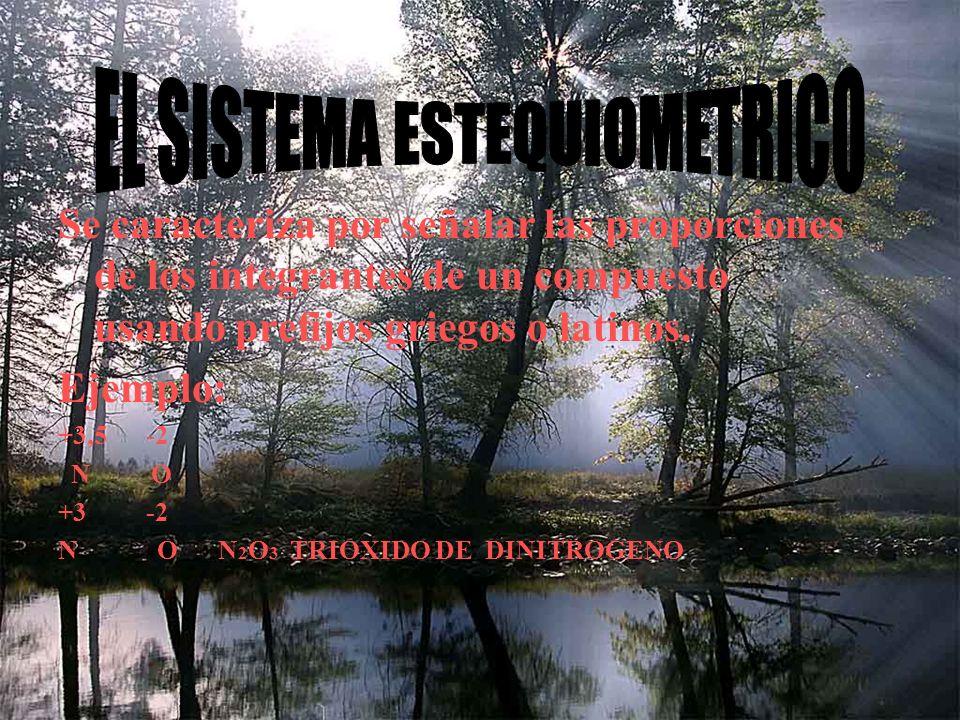 EL SISTEMA ESTEQUIOMETRICO