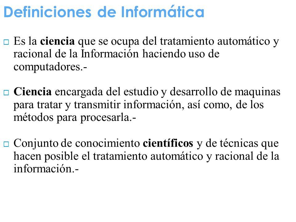 Definiciones de Informática