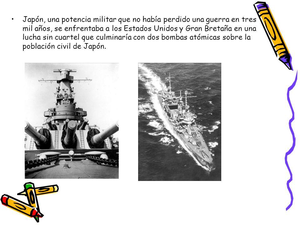 Japón, una potencia militar que no había perdido una guerra en tres mil años, se enfrentaba a los Estados Unidos y Gran Bretaña en una lucha sin cuartel que culminaría con dos bombas atómicas sobre la población civil de Japón.