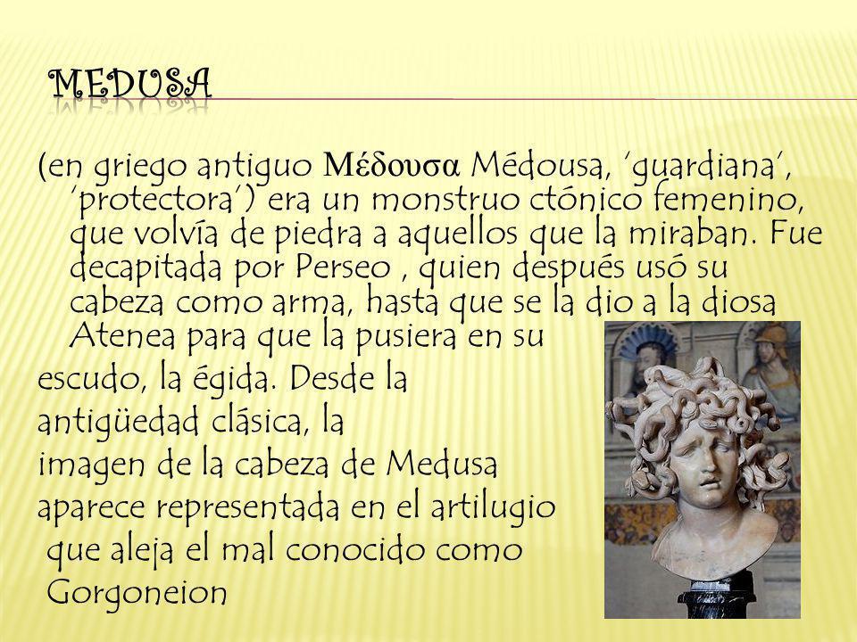 medusa en griego