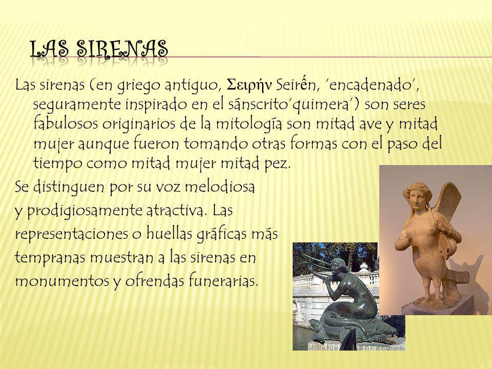 las sirenas las sirenas en griego