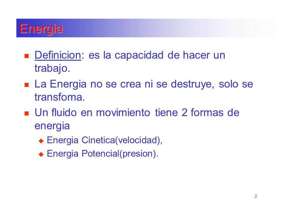 Energia Definicion: es la capacidad de hacer un trabajo.