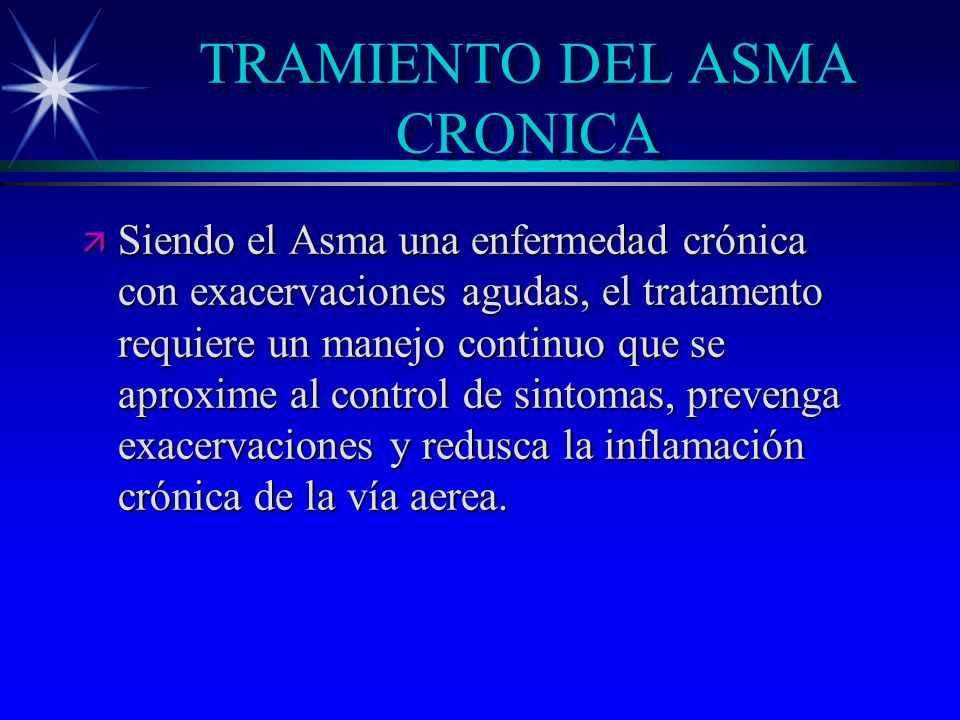 TRAMIENTO DEL ASMA CRONICA