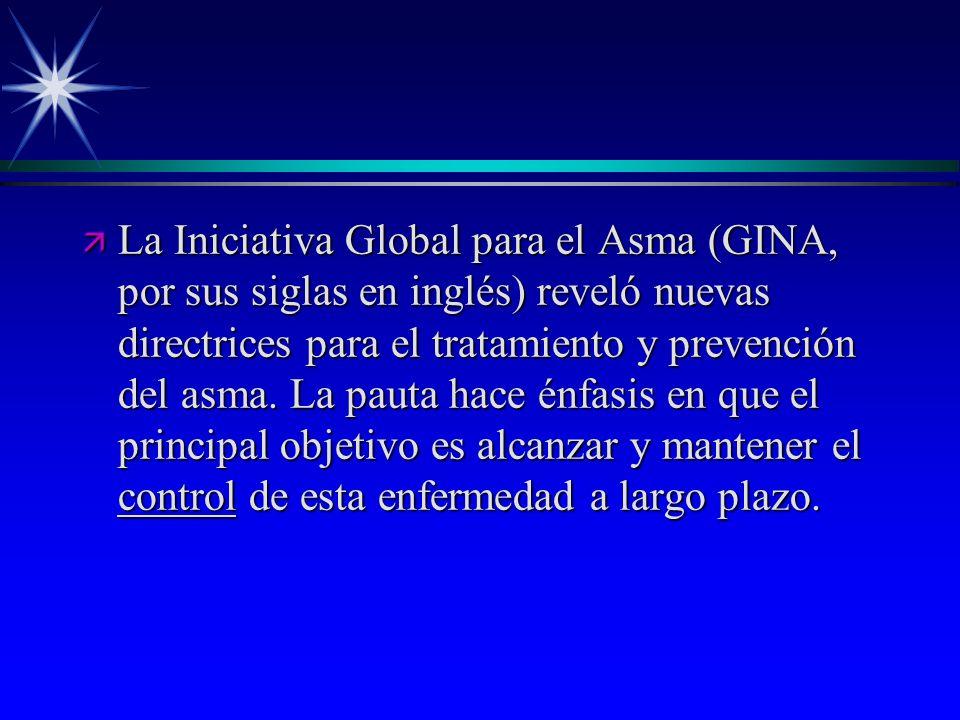 La Iniciativa Global para el Asma (GINA, por sus siglas en inglés) reveló nuevas directrices para el tratamiento y prevención del asma.