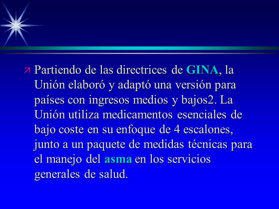 Partiendo de las directrices de GINA, la Unión elaboró y adaptó una versión para países con ingresos medios y bajos2.