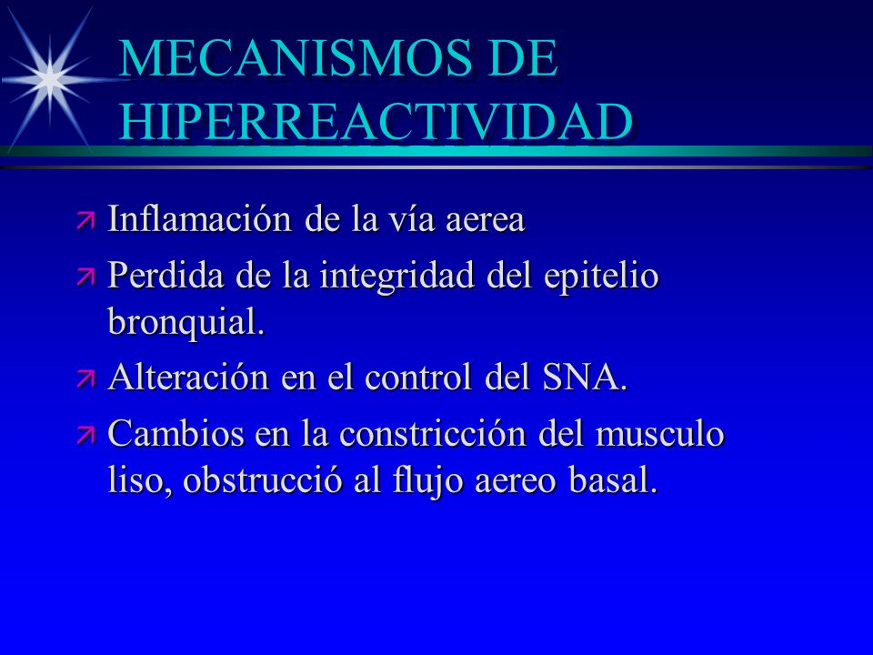 MECANISMOS DE HIPERREACTIVIDAD