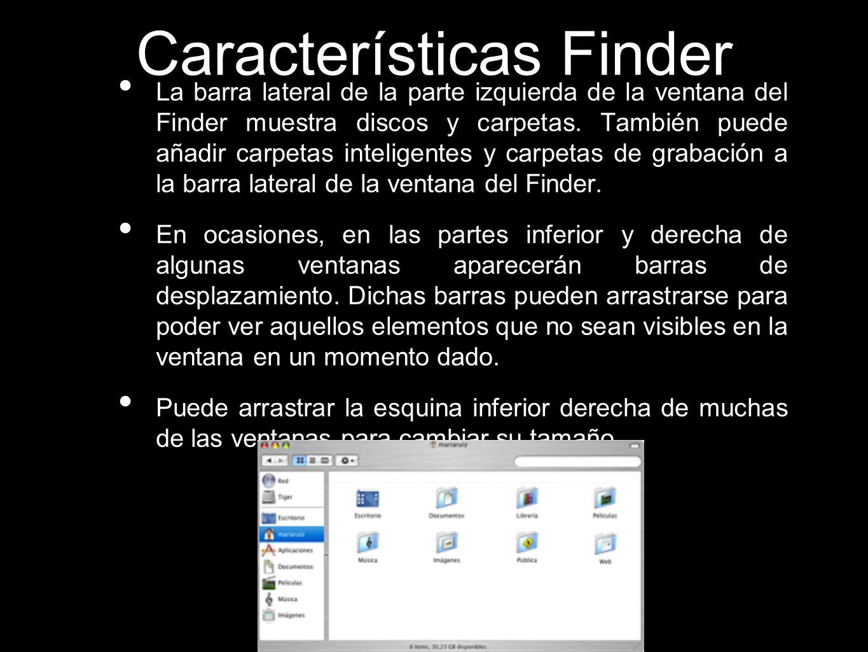 Características Finder