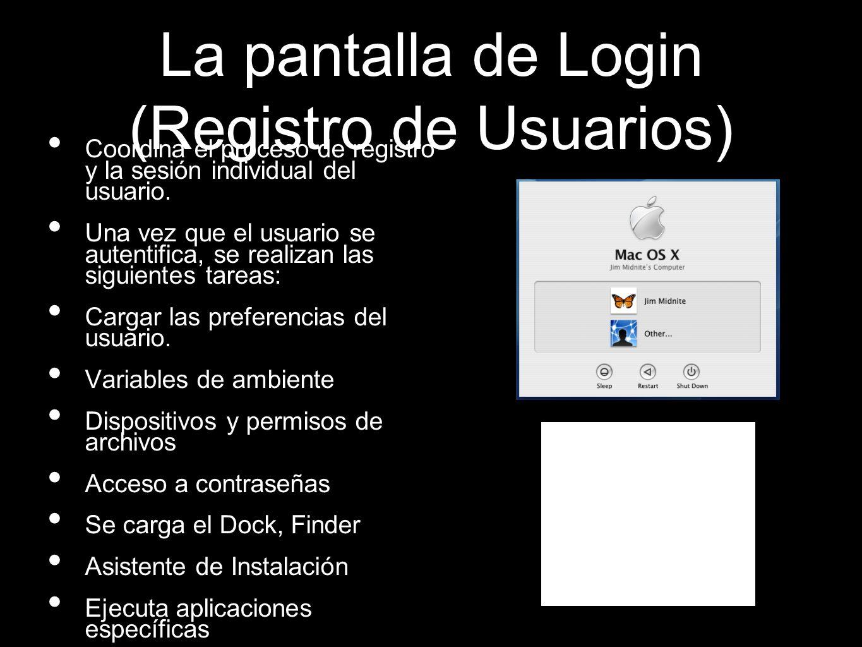 La pantalla de Login (Registro de Usuarios)