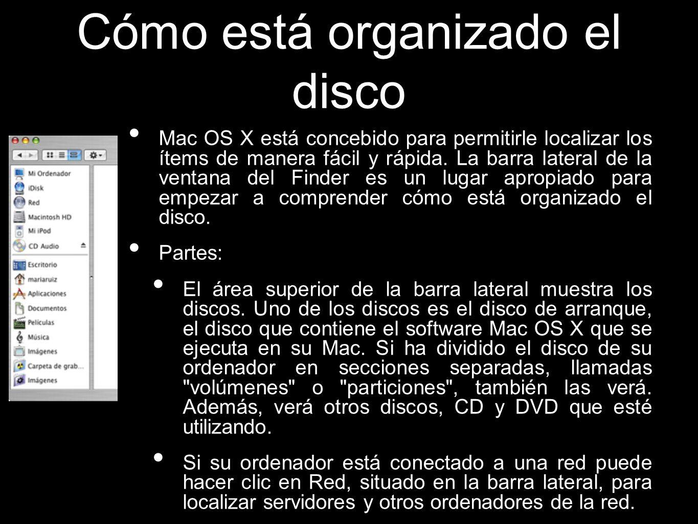 Cómo está organizado el disco