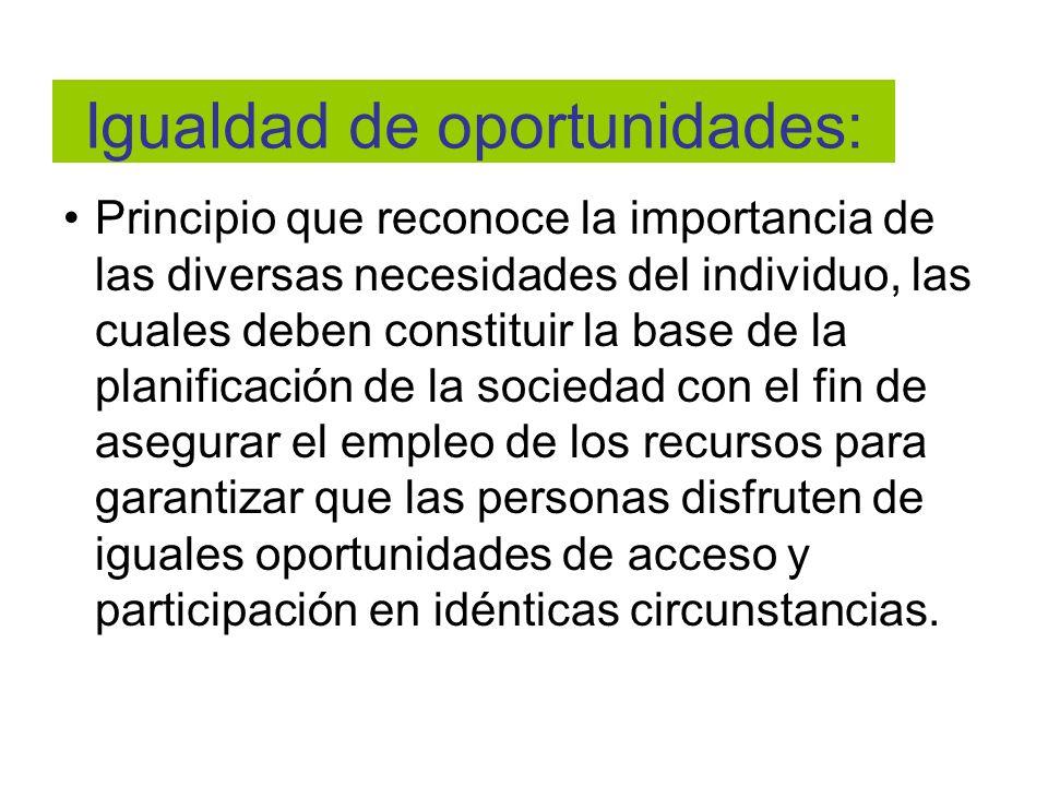 Igualdad de oportunidades: