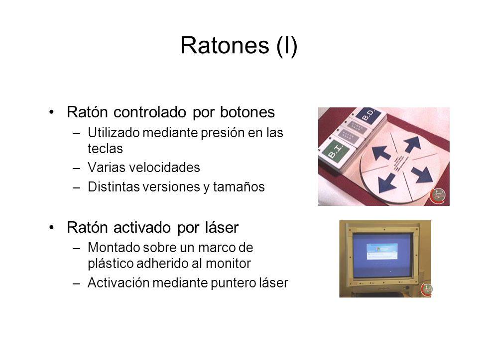 Ratones (I) Ratón controlado por botones Ratón activado por láser