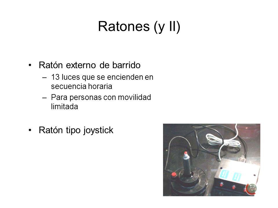 Ratones (y II) Ratón externo de barrido Ratón tipo joystick