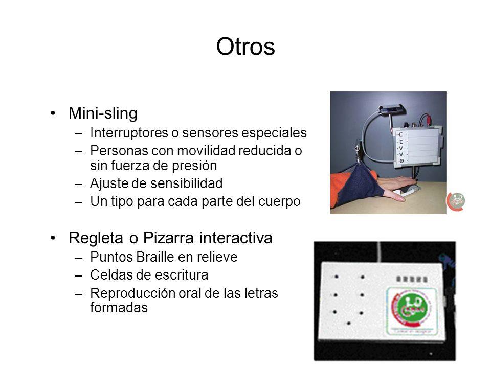 Otros Mini-sling Regleta o Pizarra interactiva