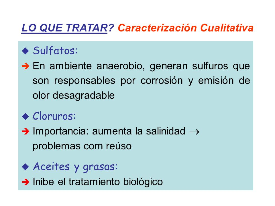 LO QUE TRATAR Caracterización Cualitativa