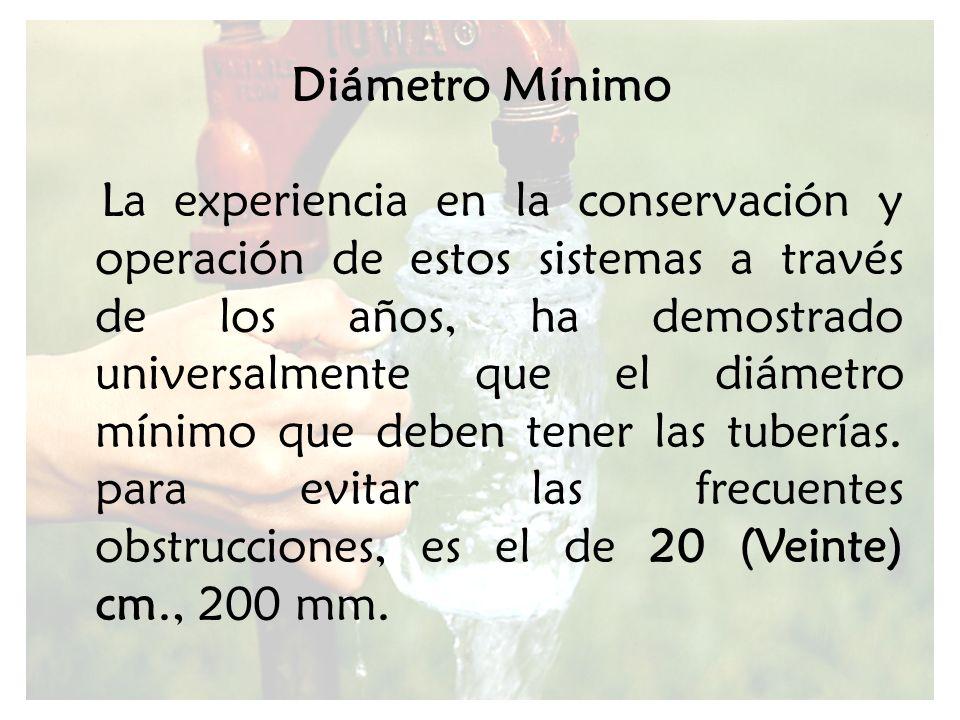 Diámetro Mínimo