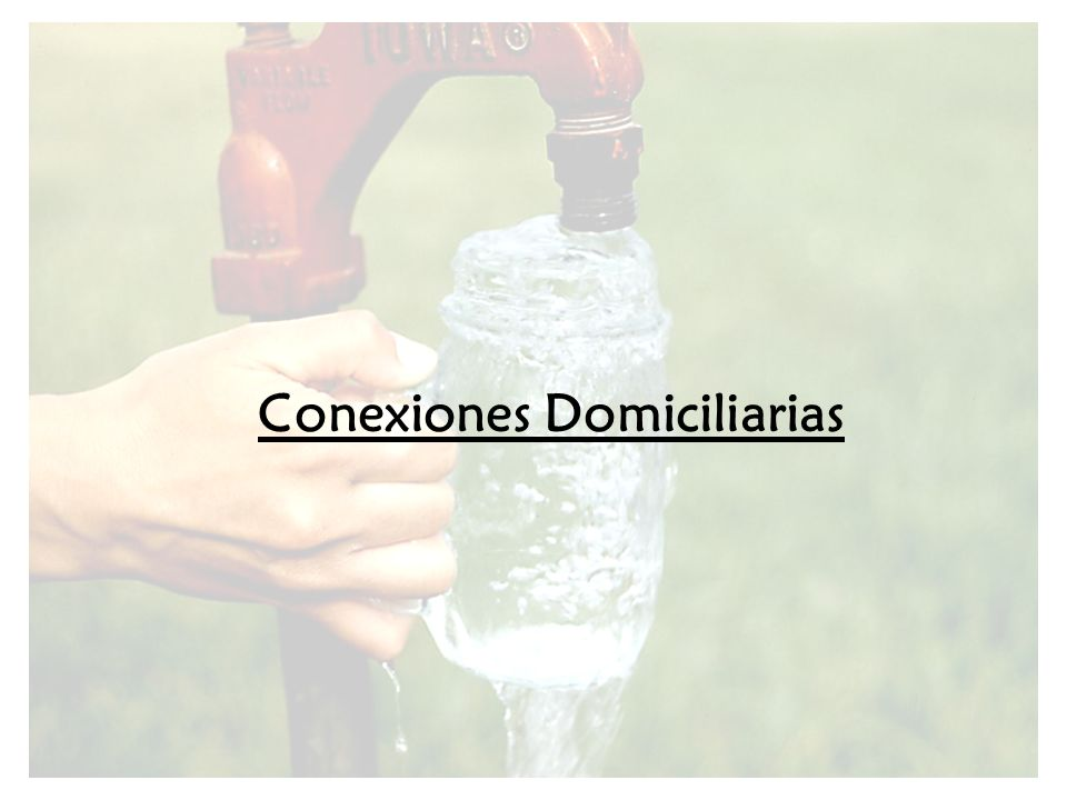 Conexiones Domiciliarias