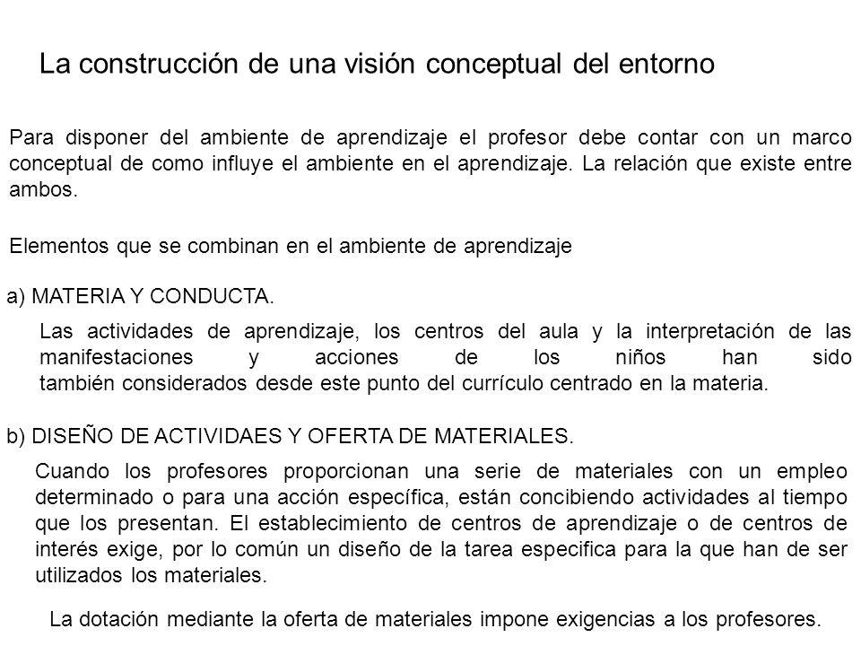 La construcción de una visión conceptual del entorno