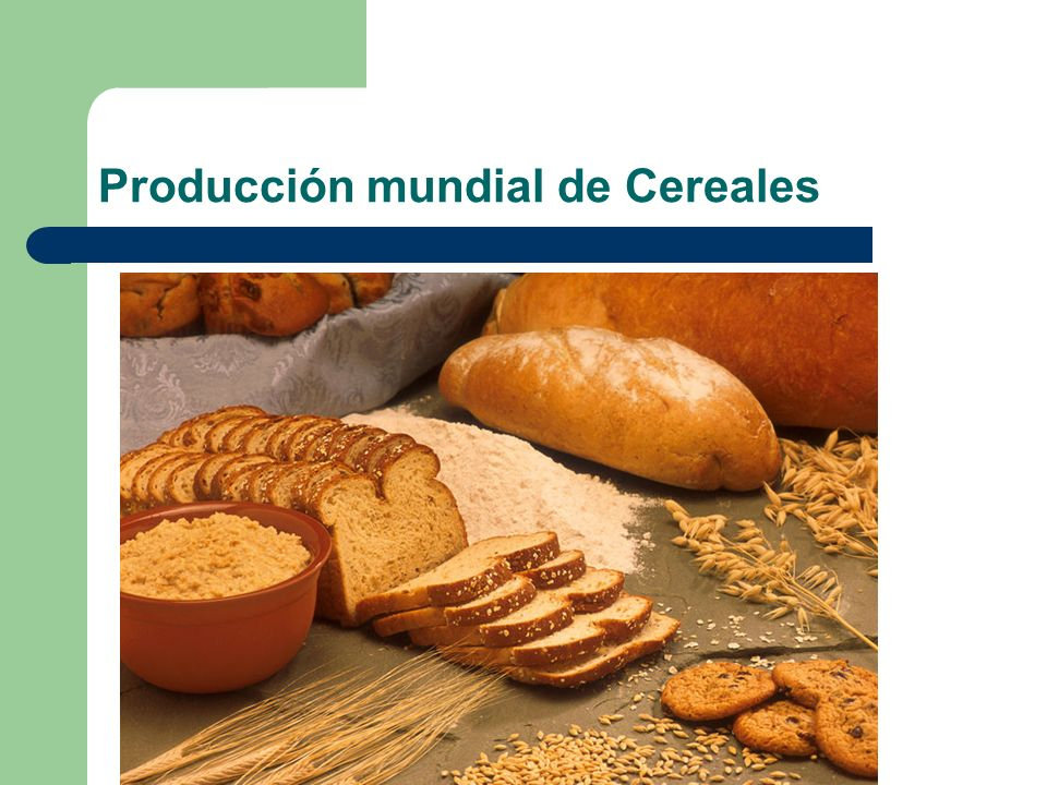 Producción mundial de Cereales