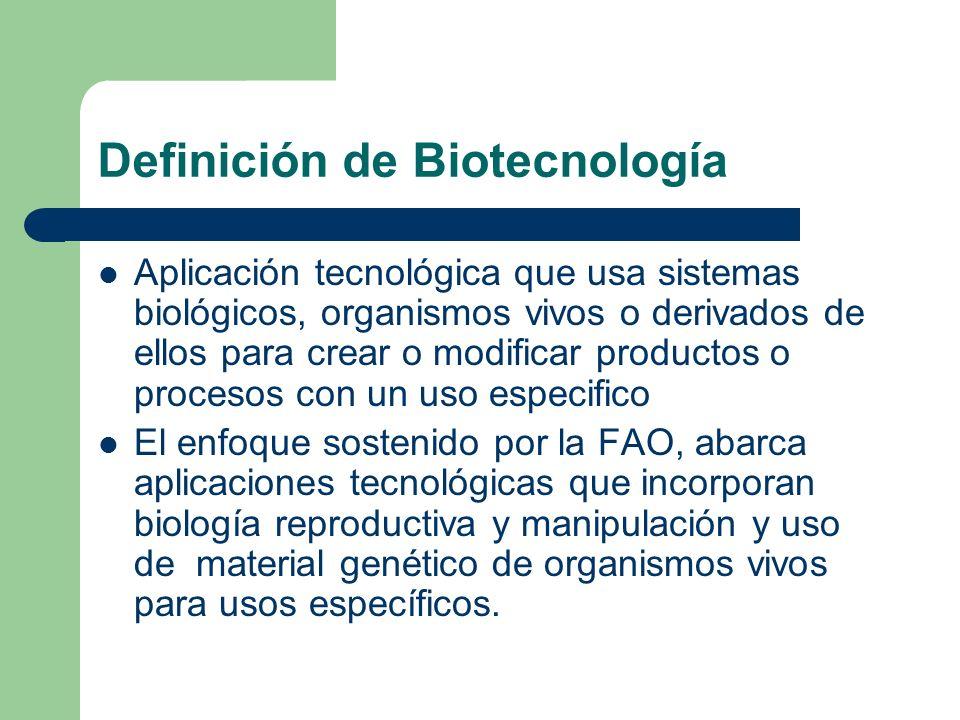Definición de Biotecnología