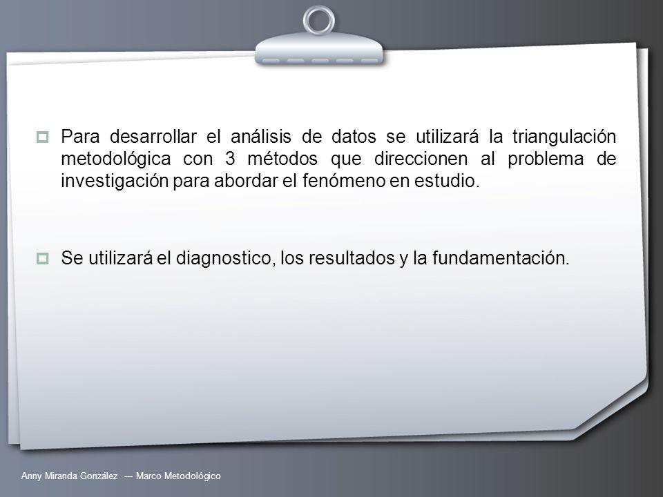 Se utilizará el diagnostico, los resultados y la fundamentación.