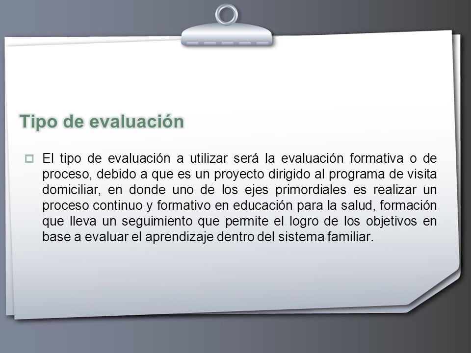 Tipo de evaluación