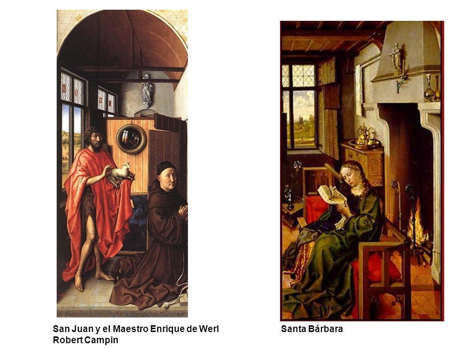 San Juan y el Maestro Enrique de Werl Santa Bárbara