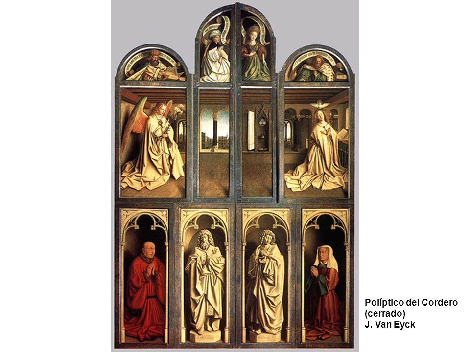 Políptico del Cordero (cerrado) J. Van Eyck