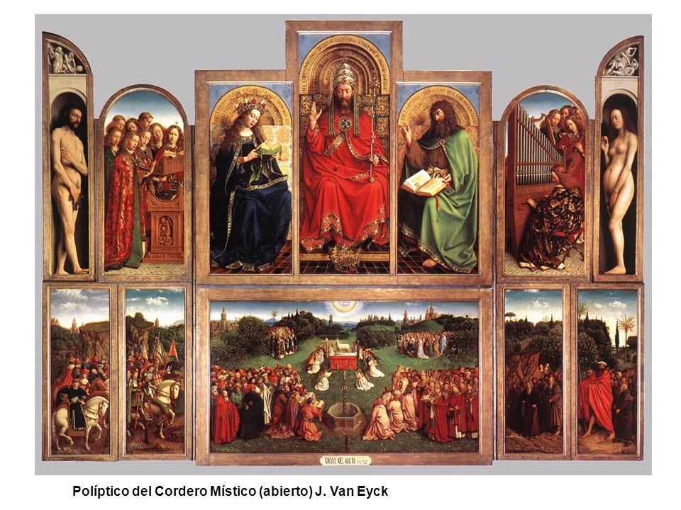 Políptico del Cordero Místico (abierto) J. Van Eyck