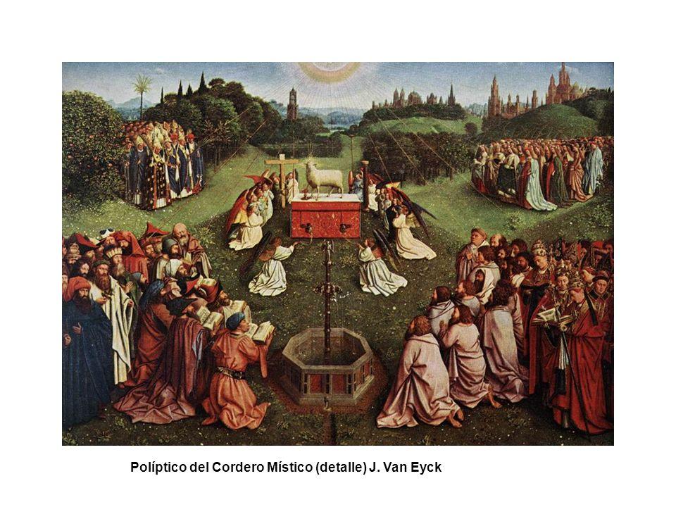 Políptico del Cordero Místico (detalle) J. Van Eyck