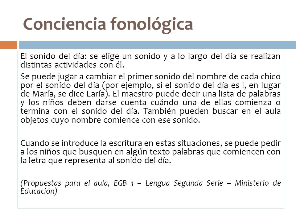 Conciencia fonológica