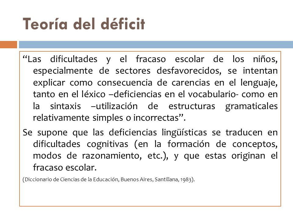 Teoría del déficit