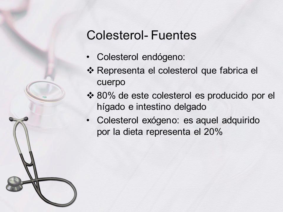 Colesterol- Fuentes Colesterol endógeno: