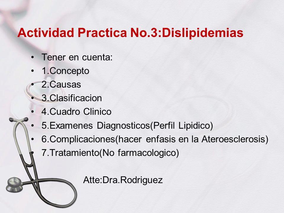 Actividad Practica No.3:Dislipidemias