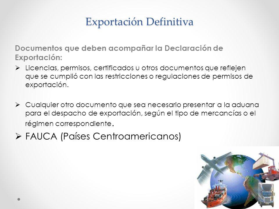 Exportación Definitiva