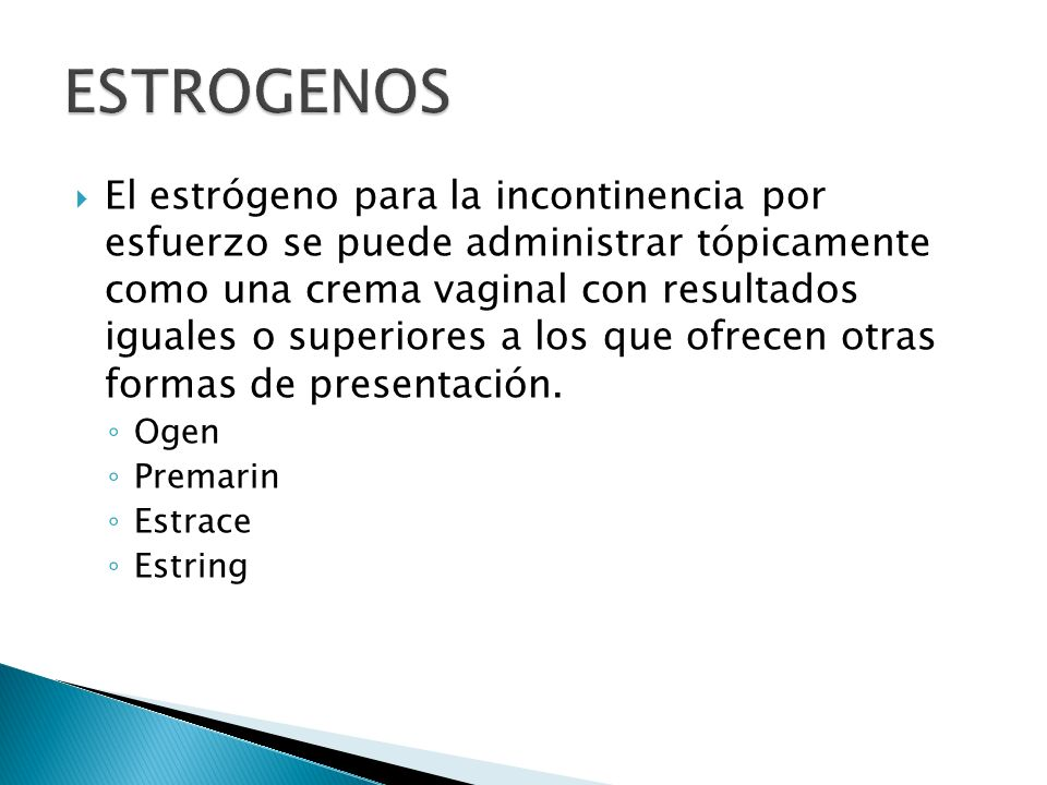 ESTROGENOS